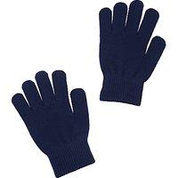 School Unisex Gloves, Navy Blue