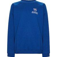 Milverton House School Unisex Sweatshirt, Royal Blue