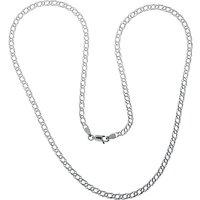 shop for Nina B Sterling Silver Medium Double Curb Chain at Shopo