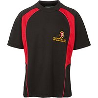 St Josephs College Boys Sports T-Shirt, Black/Red