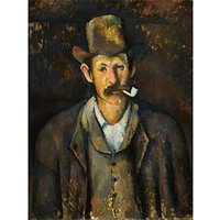 The Courtauld Gallery, Paul Czanne - Man with a Pipe 1892-1895 Print