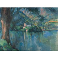 The Courtauld Gallery, Paul Cezanne - Lac d'Annecy 1896 Print