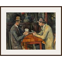 The Courtauld Gallery, Paul Czanne - Card Players 1895 Print
