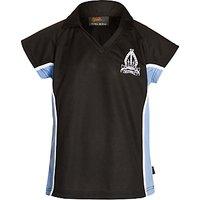 The Minster School Girls Polo Shirt, Navy Blue/Sky Blue