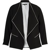Chesca Contrast Piping Trim Jacket, Black