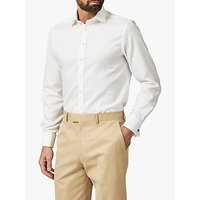 Chester by Chester Barrie Oxford Tailored Long Sleeve Shirt, White