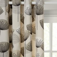 Sanderson Dandelion Clocks Pair Lined Eyelet Curtains, Neutral