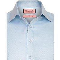 Thomas Pink Prestige Joseph Texture Long Sleeve Shirt, Blue