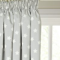 little home at John Lewis Star Pencil Pleat Pair Blackout Lined Childrens Curtains