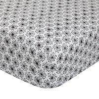 MissPrint Home Dandelion Mobile Fitted Sheet, Black/White