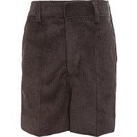 Boys Cord Shorts, Grey