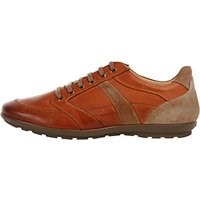 Geox Symbol Leather Trainers, Whisky
