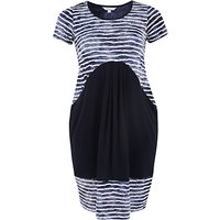 Chesca Navy Tie Dye Stripe Fancy & Plain Jersey Dress, Navy