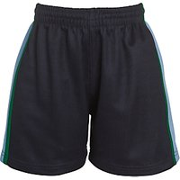 Belvedere Academy Girls PE Shorts, Navy/Multi