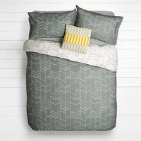 House by John Lewis Elevation Duvet Cover and Pillowcase Set, Smoke