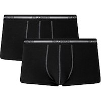 Sloggi Mens Hipster Trunks, Pack of 2, Black/Grey