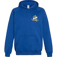 The Swaminarayan School Senior Boys Hooded Sports Sweatshirt, Royal Blue