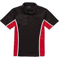 Little Heath School Boys Polo Shirt, Black/Multi