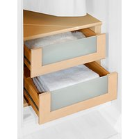 John Lewis and Partners Elstra Wardrobe Internal Drawers with Glass Fronts, Set of 2
