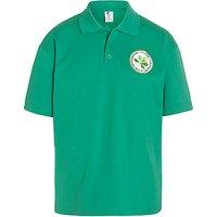Brondesbury College Green House Polo Shirt, Green