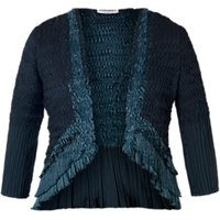 Chesca Pleat Lace and Satin Shrug, Ink