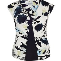 Chesca Floral Print Camisole, Ivory/ink