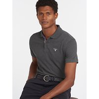 Barbour Tartan Pique Polo Shirt, Slate Marl