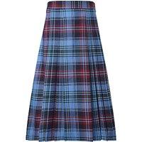 Howell's School Girls' Tartan Pleat Skirt, Blue/Multi