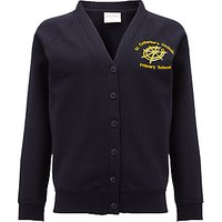 St Catherines Catholic Primary School Girls Button Cardigan, Navy