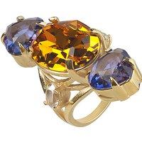 shop for Cabinet Gold Plated Swarovski Crystal Erinus Ring at Shopo
