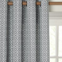 John Lewis and Partners Nazca Pair Lined Eyelet Curtains
