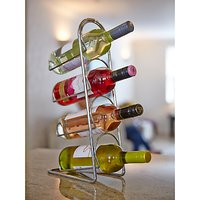 Hahn Pisa Metal Wine Rack, Chrome, 4 Bottle