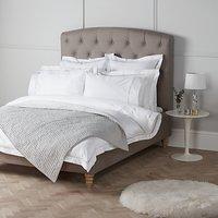 John Lewis & Partners Soft and Silky Garda Lattice Stitch Egyptian Cotton 400 Thread Count Bedding