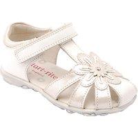 Start-rite Primrose Leather Sandals, White/Silver