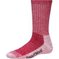 SmartWool Womens Hike Light Crew Socks, Red