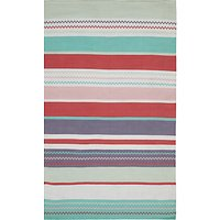 little home at John Lewis Striped Children's Rug, Pink
