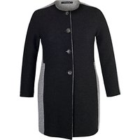 Chesca Collarless Coat, Charcoal