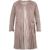 Chesca Matt Satin Lace Coat, Pale Mink