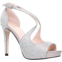 Carvela Gift High Heeled Embellished Court Shoes, Silver