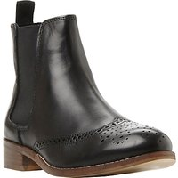 Dune Quentin Punch Hole Leather Chelsea Boots