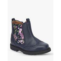 Start-Rite Floral Leather Chelsea Boots, Navy