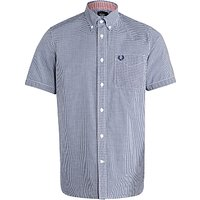 Fred Perry Short Sleeve Poplin Shirt, Medieval Blue