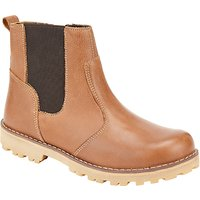 John Lewis Childrens Leather Chelsea Boots, Tan