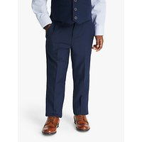 John Lewis and Partners Heirloom Collection Boys Twill Suit Trousers, Blue