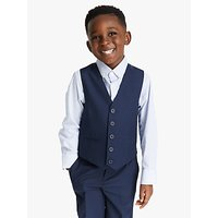 John Lewis and Partners Heirloom Collection Boys Twill Suit Waistcoat, Blue
