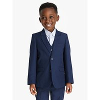 John Lewis and Partners Heirloom Collection Boys Twill Suit Jacket, Blue