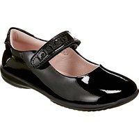 Lelli Kelly Children's Classic Mary Jane Rip-Tape School Shoes, Black Patent
