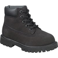 Timberland Childrens Waterproof Nubuck Leather Boots, Black