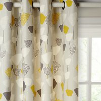 John Lewis and Partners Elin Pair Lined Eyelet Curtains, Citrine