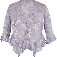 Chesca Lace Cap Devoree Applique Shrug, Lilac